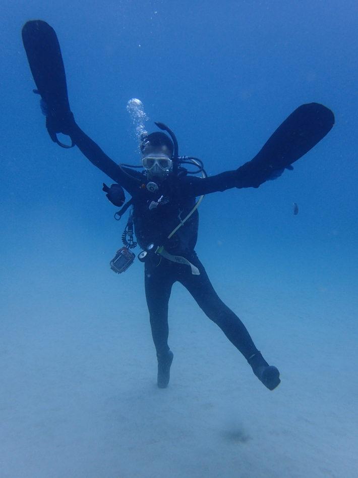沖繩潛水面鏡排水